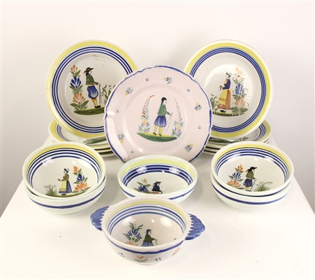 Collection of French Pottery Plates