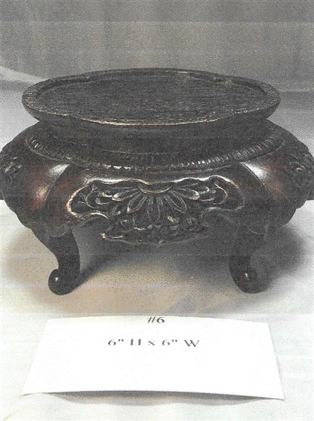 Late 19thC Chinese Carved Footed Stand