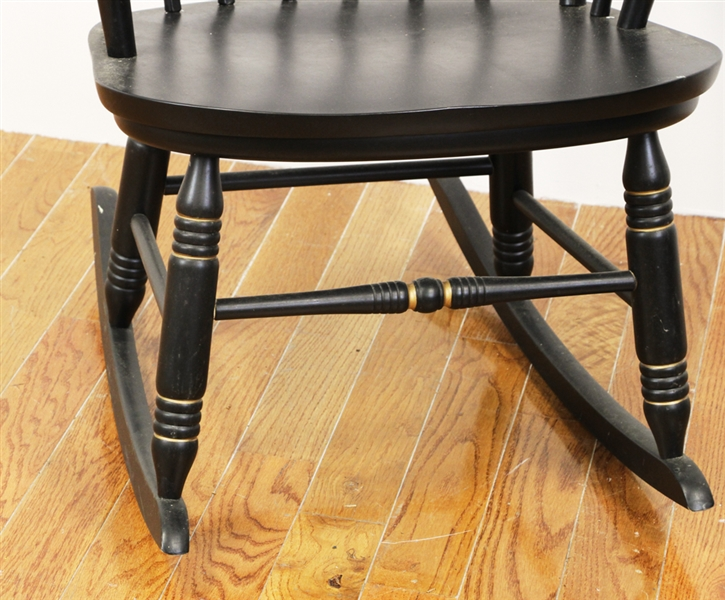 Black Stenciled Rocker