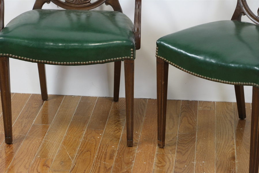 (12) Hepplewhite Style Dining Chairs