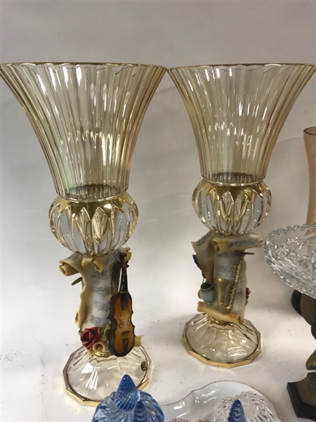 Assorted Vases, Compotes, Perfume Bottles