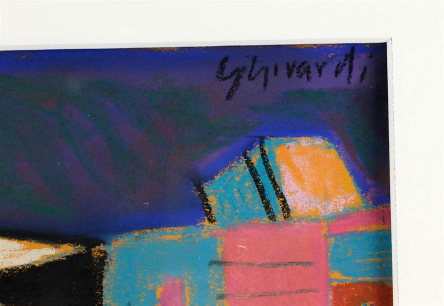 Ghirardi, Abstract, Pastel, w/ Poster