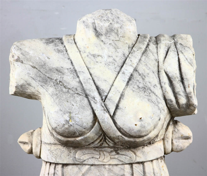 Antique Carved Marble Classical Female Torso