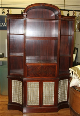 Federal Style Mahogany Bookcase Desk
