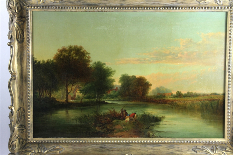 Late 19thC English School, Landscape, Oil on Canvas