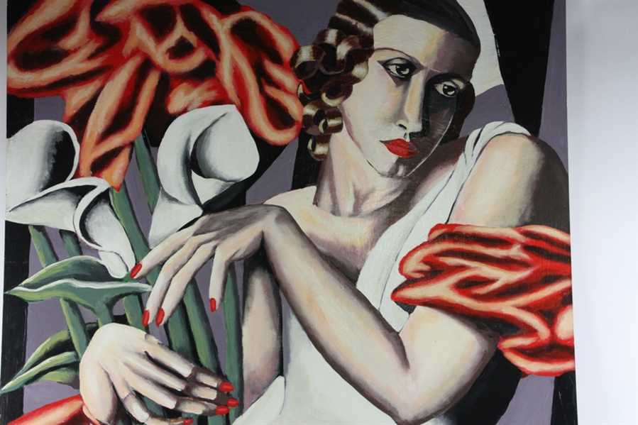 Two Paintings by Tamara De Lempicka, Oil on Board