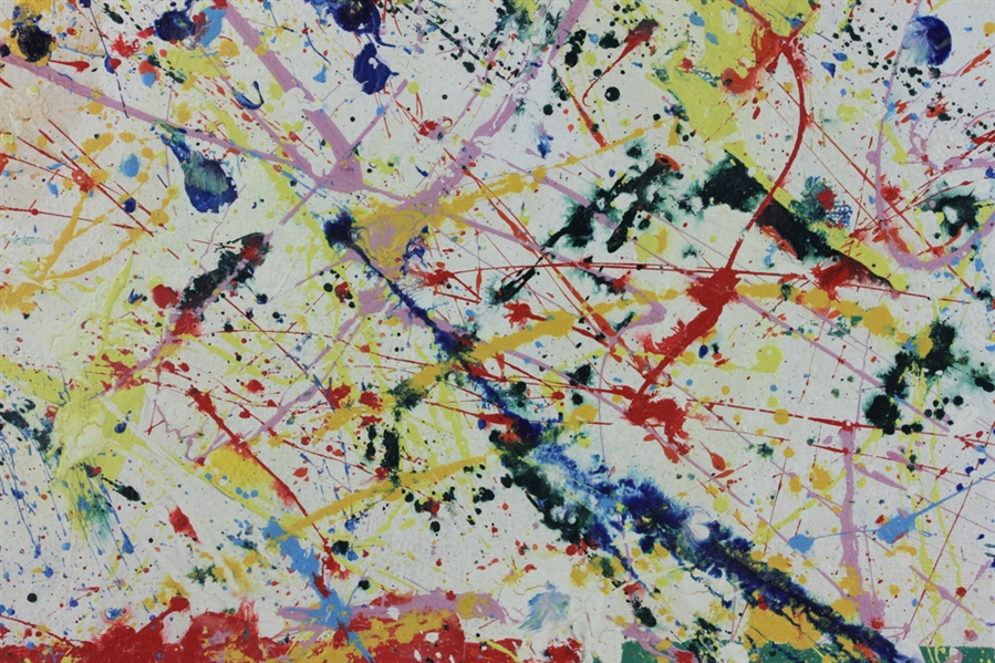 Signed Sam Francis, Abstract, Oil on Canvas
