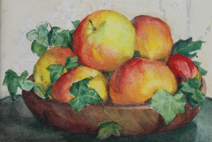Anna C Tomlinson, Still Life of Fruit, Watercolor