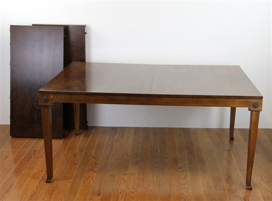 Neoclassical Burlwood Dining Table