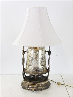 Victorian Silverplated Water Goblet Converted to Lamp