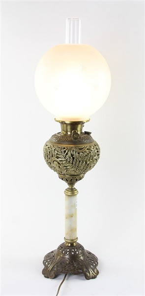 Bradley and Hubbard Oil Lamp