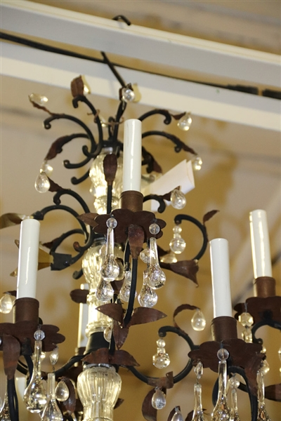 French Chandelier and Iron Chandelier