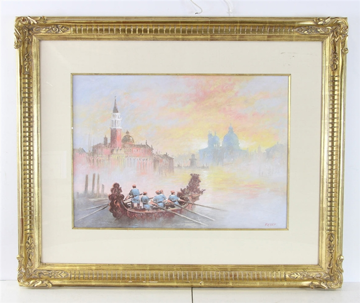 John Kelley Signed, Grand Canal, Pastel