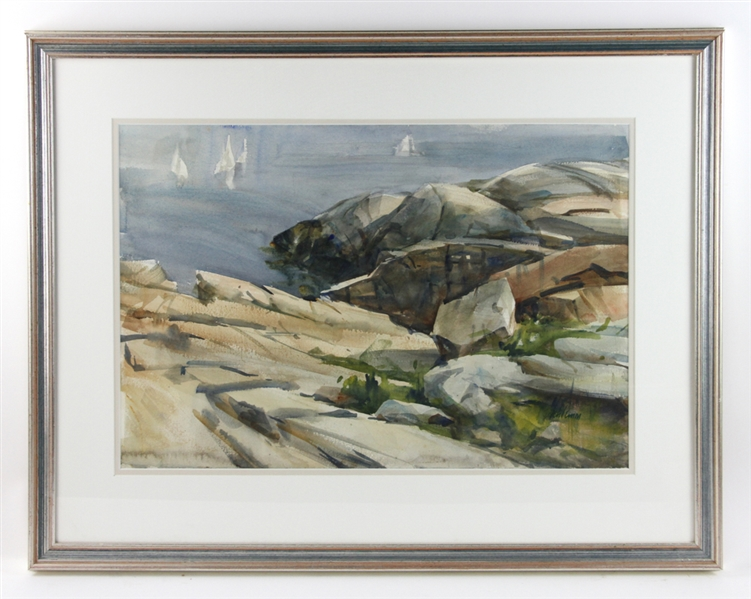 Betty Lou Schlemm, Pigeon Cove, Watercolor