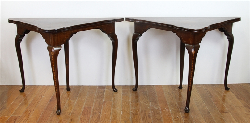 Pair of 19thC Dutch Handkerchief Style Tables