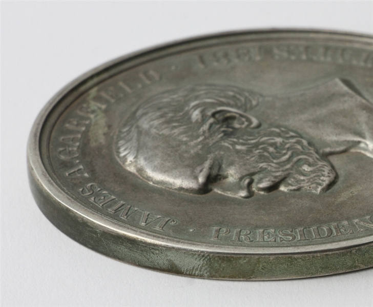 Oval Indian James Garfield Peace Medal