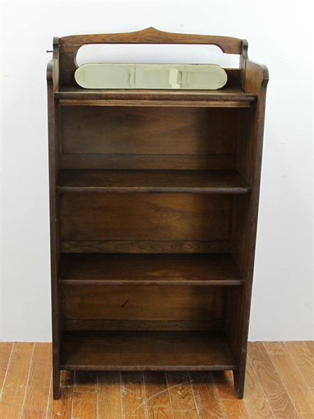 Folding Oak Bookcase