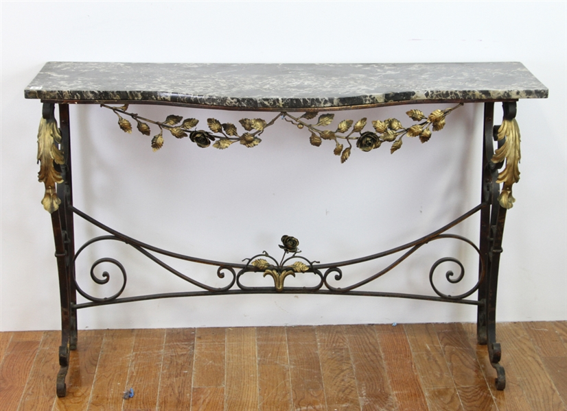 Early 20thC Meisner Style Wrought Iron Table