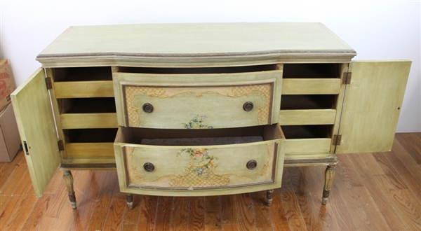 French Style Circa 1920s Painted Decorated Chest
