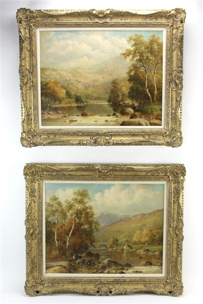 Pair of W H Mander, Landscape, Oil on Canvas