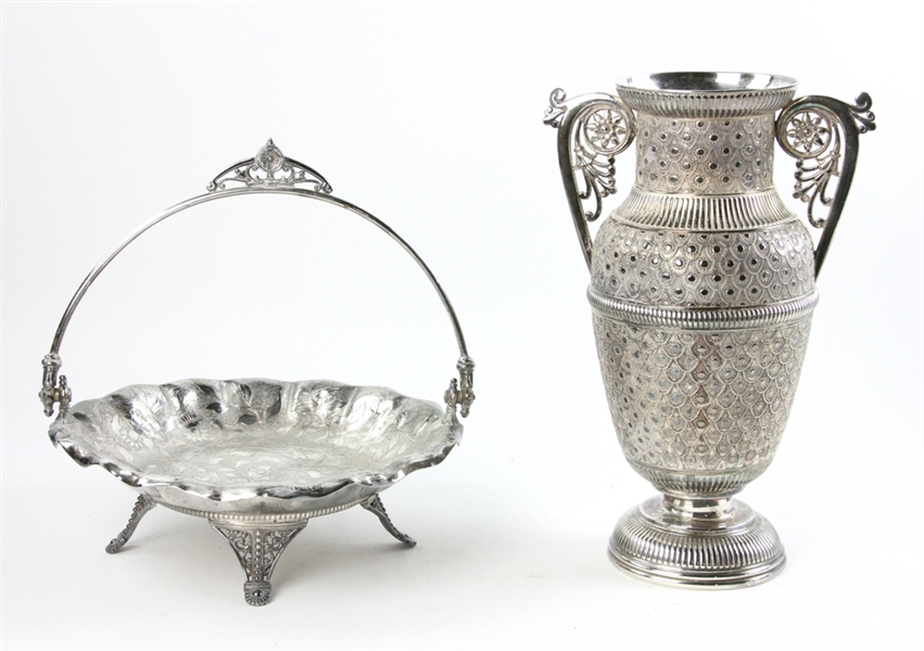 19thC James W Tufts Co Silverplated Items