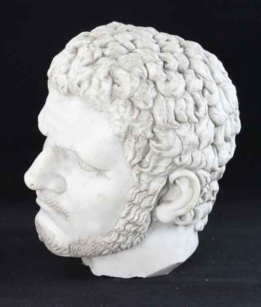 Carved Italian Marble Head of Roman Emperor Caracalla