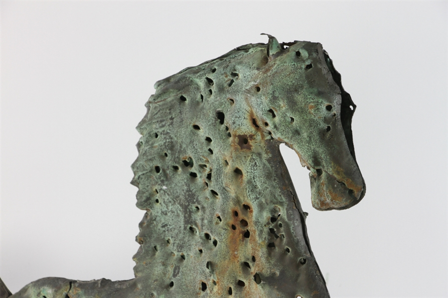 19thC Copper Weather Vane of a Horse
