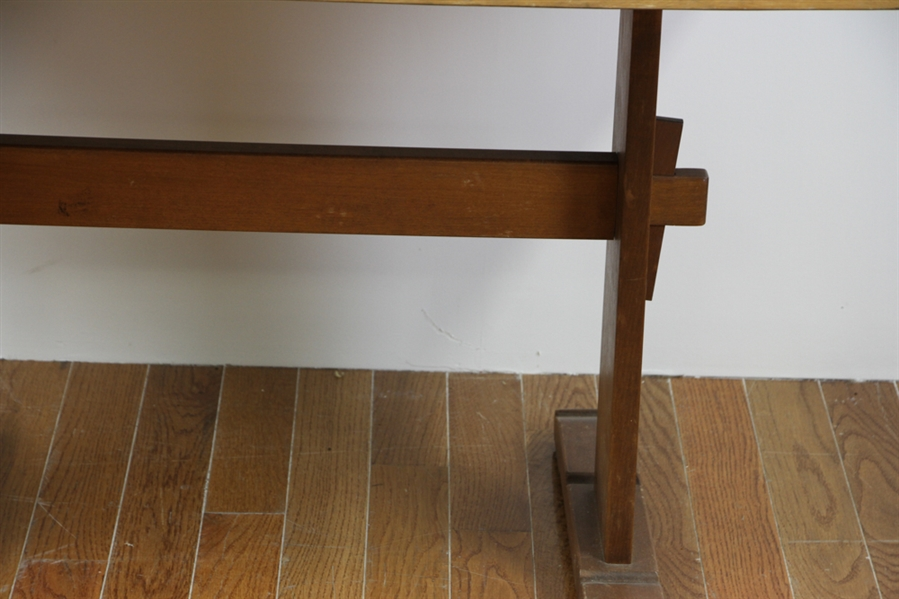Early Trestle Base Dining Table