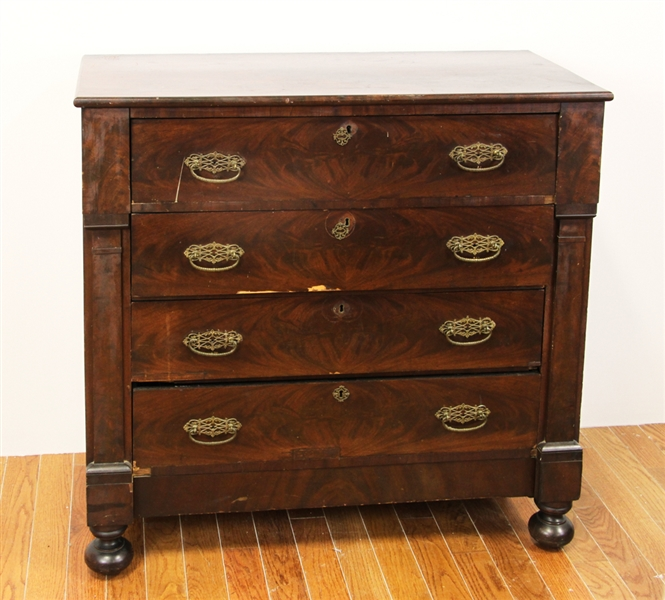 Early 19thC Classical Mahogany Chest