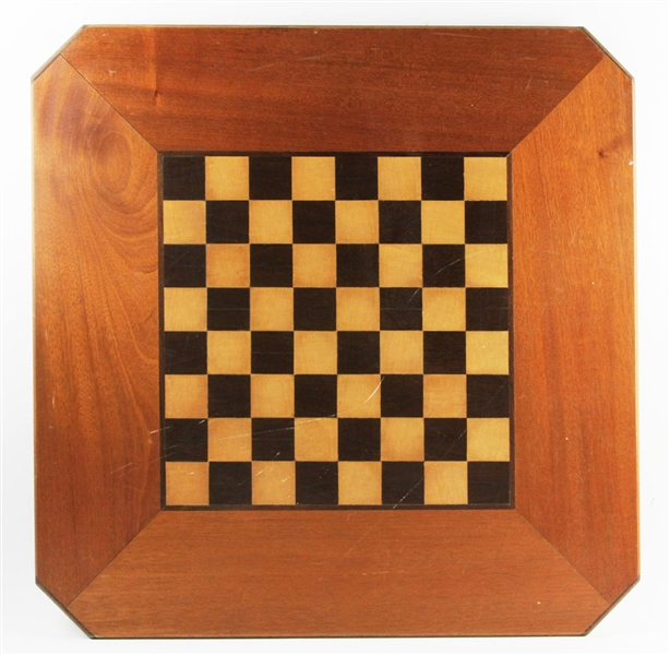 Fine Inlaid Wood Checkerboard