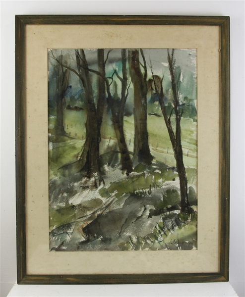 Dori Currier, Clean Woods, Watercolor
