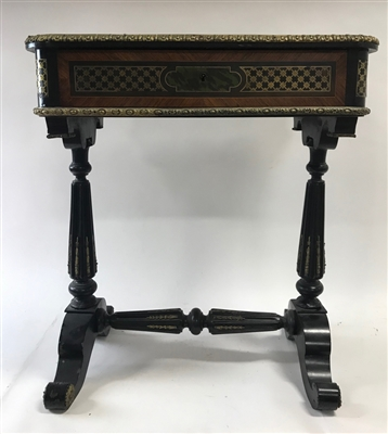 19thC French Inlaid Table