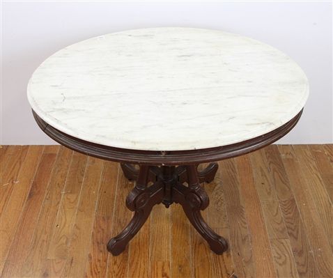 19thC American Victorian Walnut Center Table