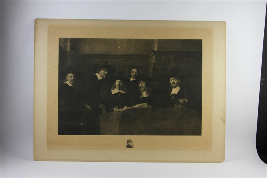 Print of Rembrandt and the Doctor