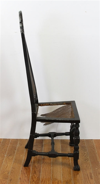 Early English Queen Anne High Chair