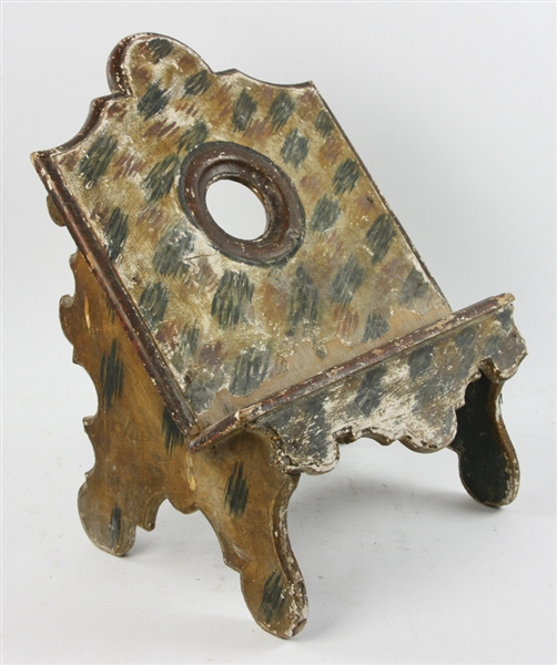 19thC Venetian Italian Faux Decorated Book Stand