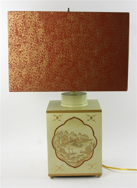 Chinese Style Painted Towle Lamp