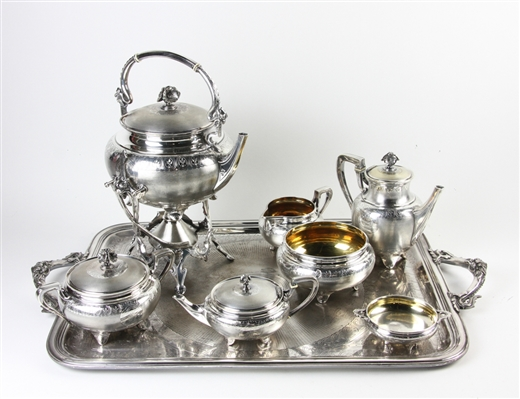 Christofle Marked Silverplated Tea Set