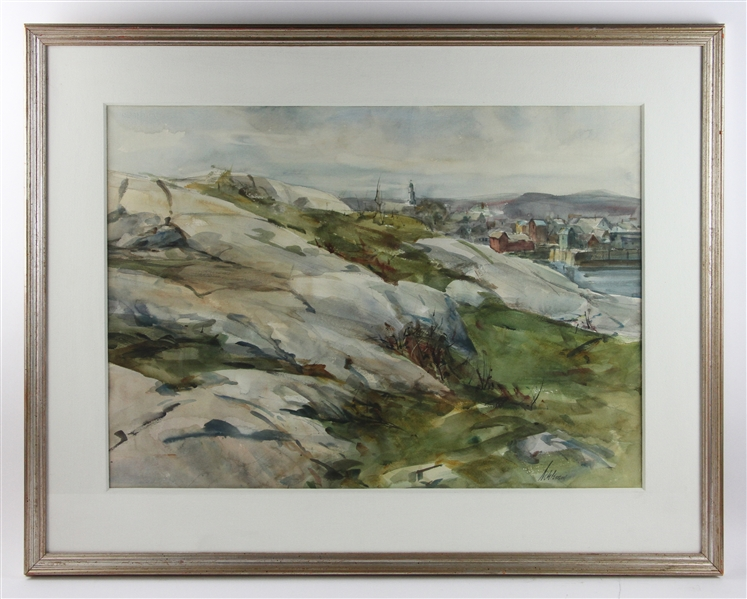 Betty Schlemm, View of Rockport, Watercolor
