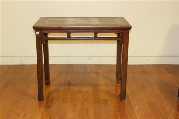 Chinese Stand with Carved Legs and Trim