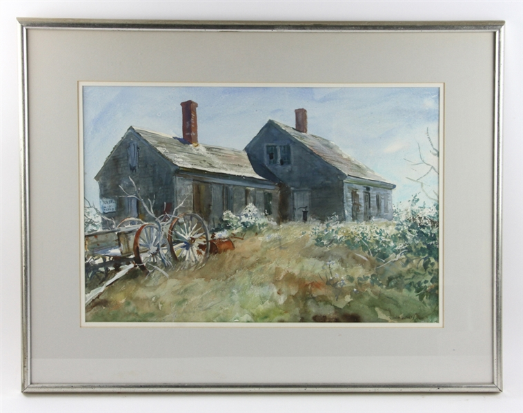 John Whorf, Old Farm House, Watercolor