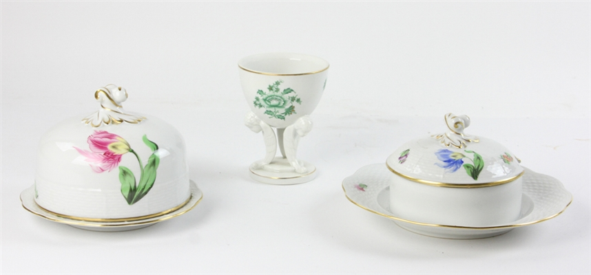 Three Pieces of Herend Porcelain