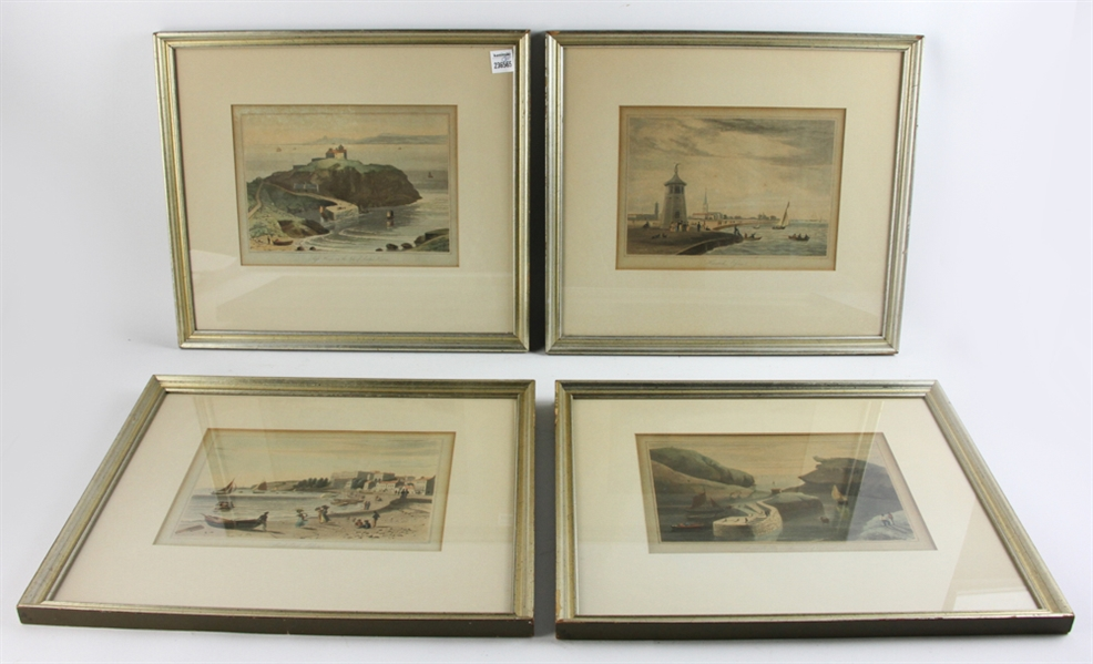19thC Colored Prints, Views of England