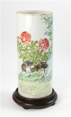 Chinese Republic Period Cylindrical Vase