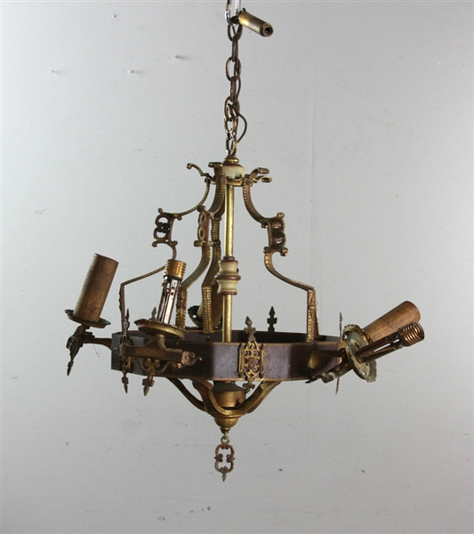 1920s Copper Chandelier