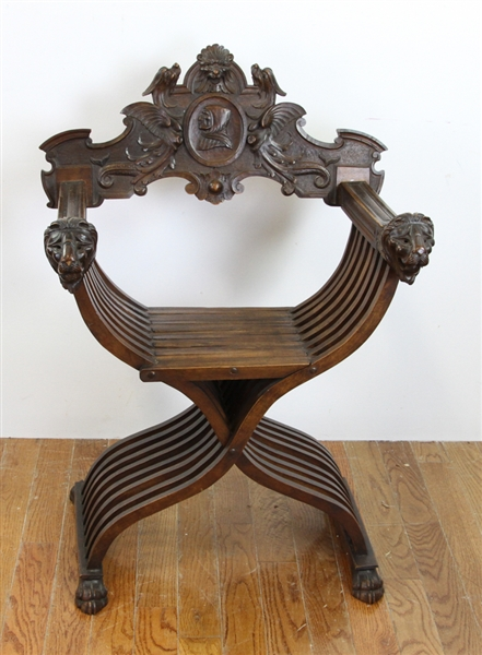 19thC Italian Carved Chair