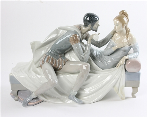 Large Lladro Porcelain Romeo and Juliet