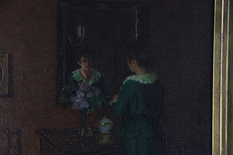 Lady in Mirror, Oil on Canvas
