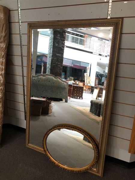 LARGE MIRROR AND OVAL MIRROR