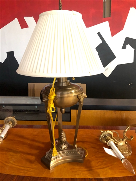 BRASS FRENCH STYLE LAMP